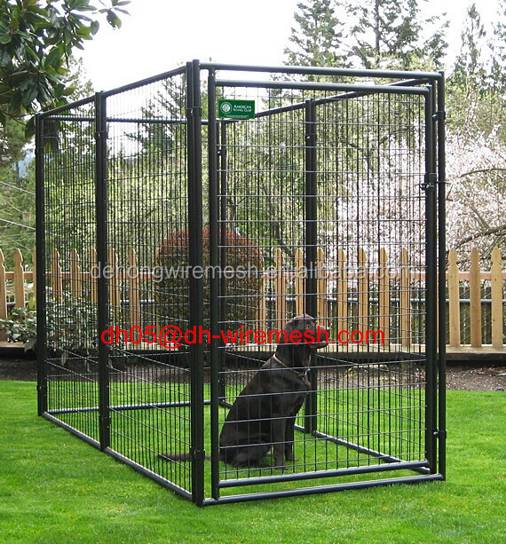 Portable fences for dogs wire mesh fencing dog kennel for Portable dog kennel building