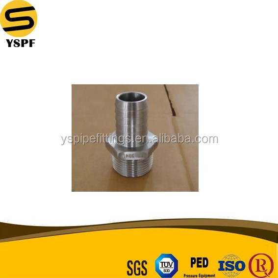 AISI SS304,SS316,SS201 Stainless Steel 4 Inch 150LBS Threaded Round Hose Nipple Cast Fitting
