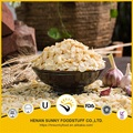 Natural air dried garlic flakes light yellow color popular in Brazil