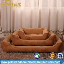 Wholesale luxury high quality polyester filling dog bed