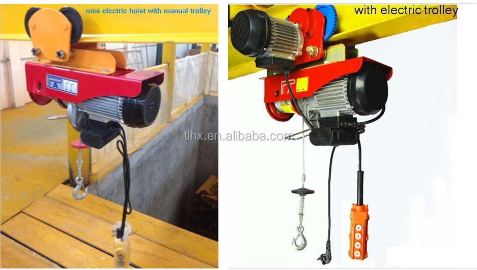 Manual Trolley Electric Hoist 1 Ton Geared Trolley Hoist