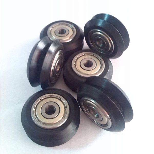 plastic rubber coated v-nut laufrollen wheel Bearing 4x24x11