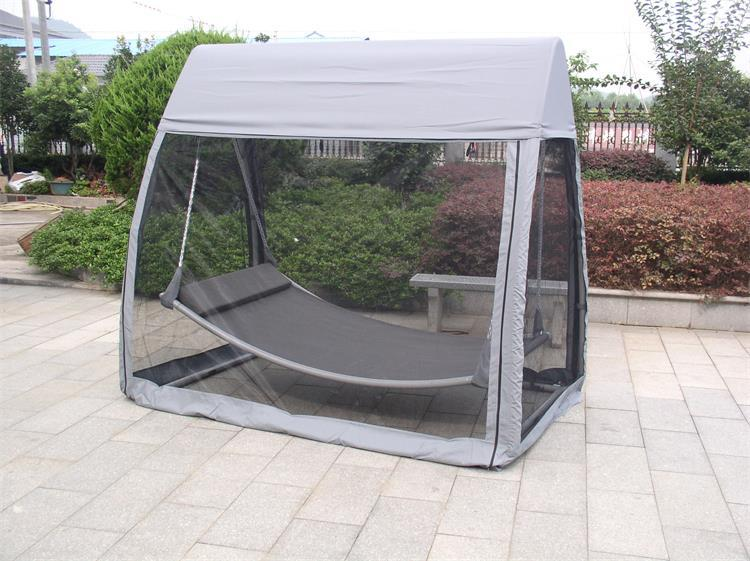 Outdoor Gazebo Swing With Canopy Hammocks With Mosquito