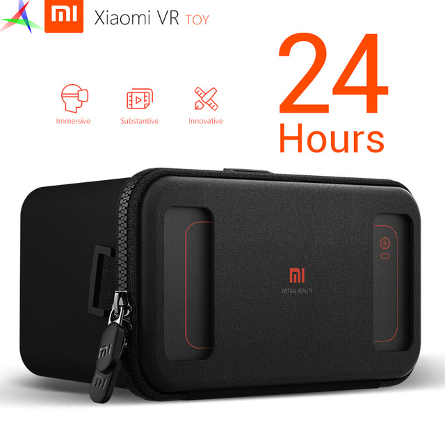 "In Stock 2016 Original Xiaomi Mi VR Toy Virtual Reality 3D Glasses VR 1C Box Lycra Material New For 4.7-5.7"" Phone"