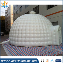 Customized giant white inflatable igloo tent/large inflatable igloo tent for sale
