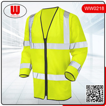 safety vest with high visibility strips