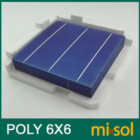 4.25W POLY Cell 6x6 for DIY solar panel, polycrystalline cell, solar cell