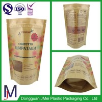 packaging bread and toast food grade printing kraft paper bag with clear window