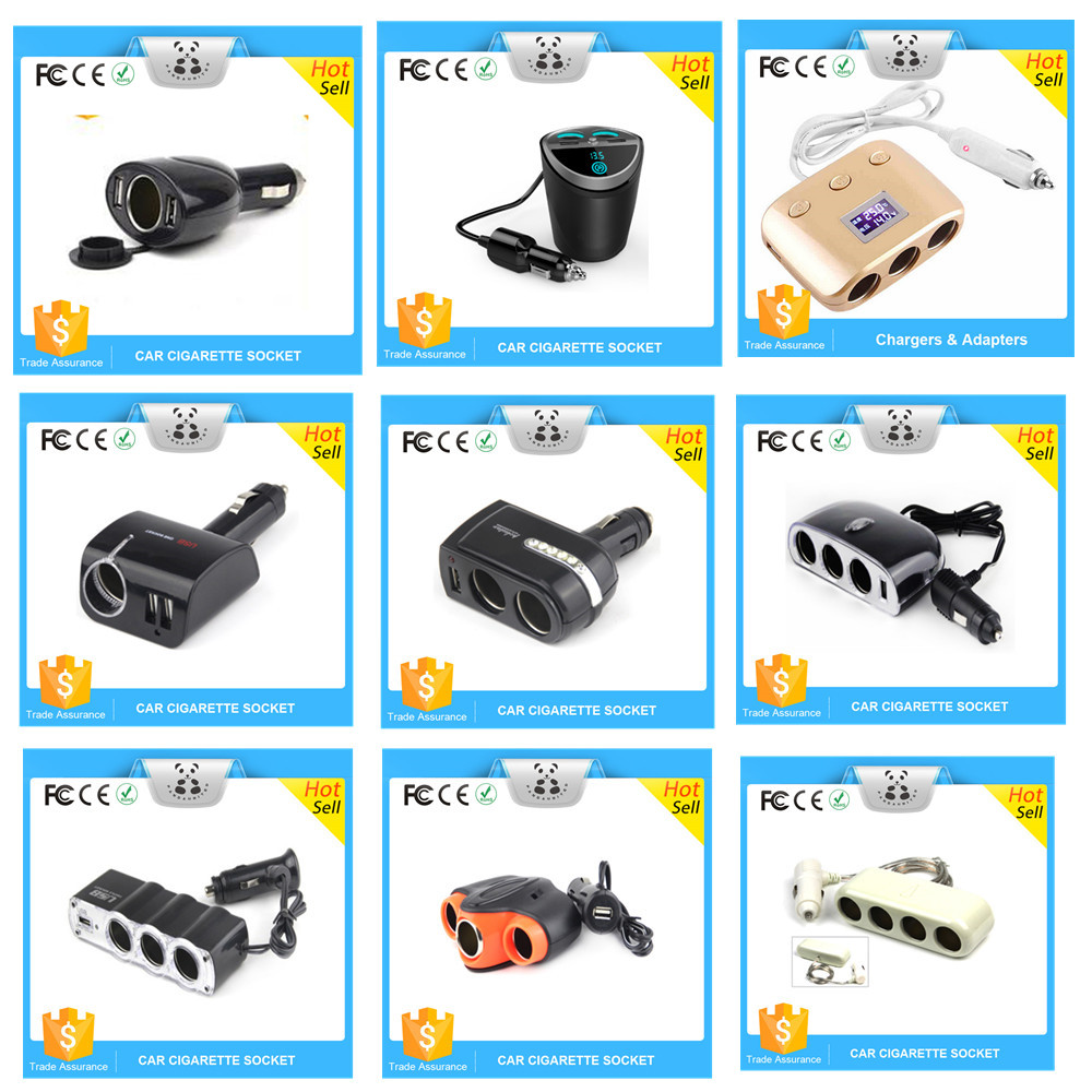 China Supplier Provide Triple Socket Car Charger Cigarette Lighter Adapter for kinds of electronic devices