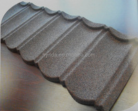 corrugated color coated stone coated roofing tiles