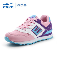 ERKE wholesale dropshipping lifestyle school brand lace-up pink girls sports shoes(Little Kid/Big Kid)