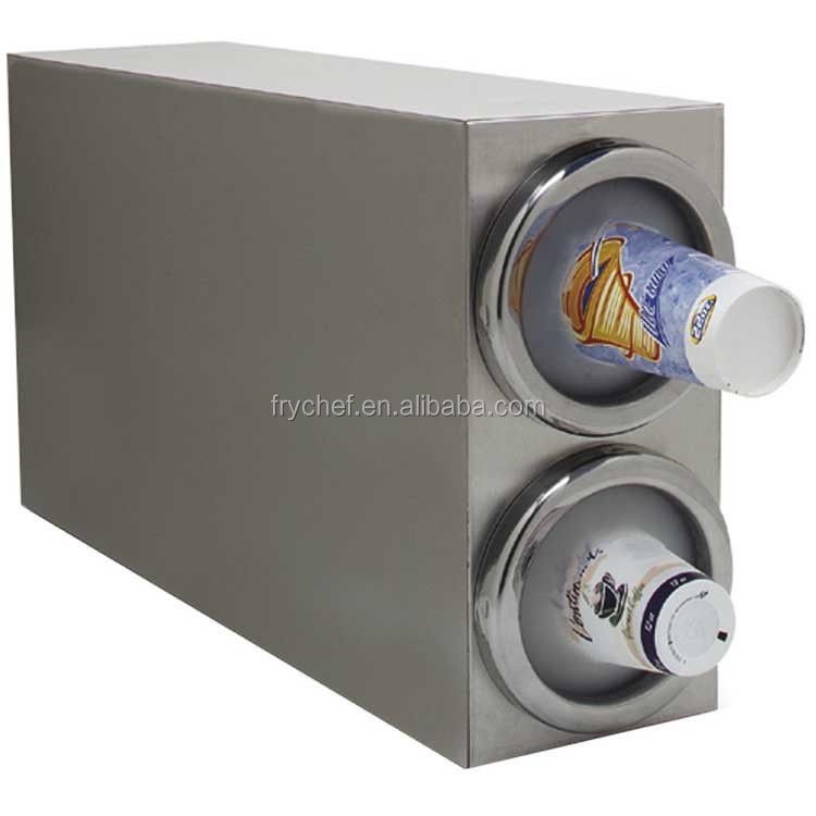 Tow Tier Stainless Steel 18/8 Cup Dispenser