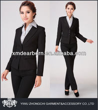 peaked lapel trendy business suits for women