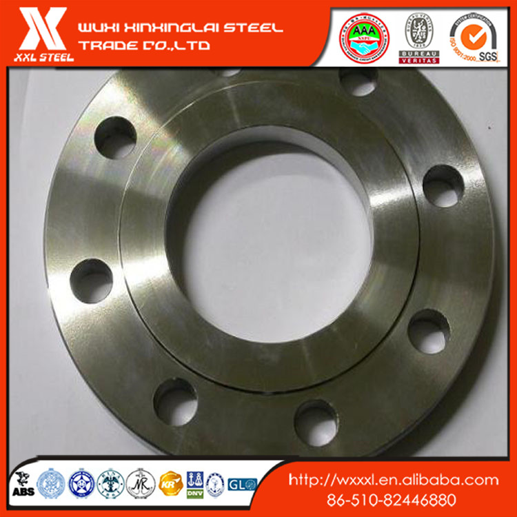 Pure titanium tongue and groove flange