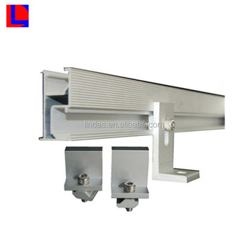 6000 series silver anodized easily assembling aluminium extrusion solar mounting system