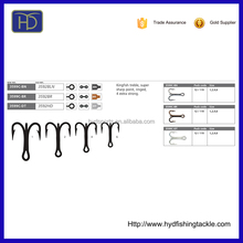 3599C-BN High Carbon Steel Bulk Fishing Treble Hook