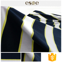 Garment textile custom striped printed cotton fabric price kg