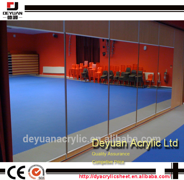 Large plastic acrylic gym mirrors pvc mirror sheet