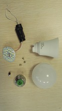 Raw material all spare parts for 3 5 7 9 12w skd/ckd led bulb assembling