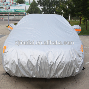 top sell polyester pu coated car cover inflatable hail proof car cover with high quality
