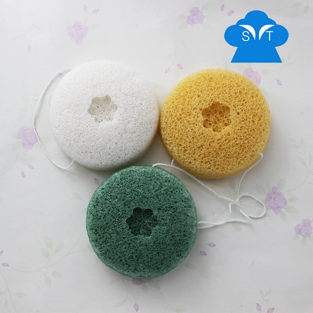 Natural Konjac Sponge for face and skin 2016 the newest design