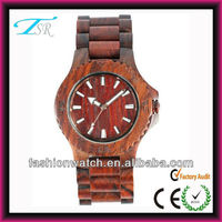 2014 hot summer style sale eco-friendly natural material popular mens' quartz DIY bamboo wooden hand watch
