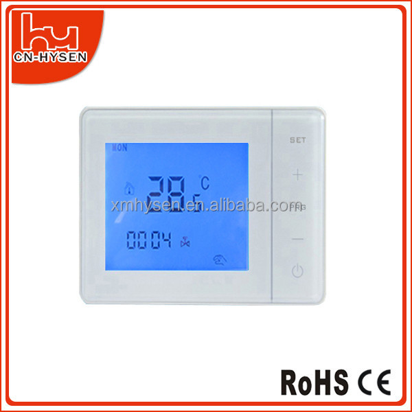 Programmable electrical symbols thermostat for underfloor heating touch screen