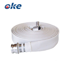 White Plain Jacket Fire Hose with Coupling