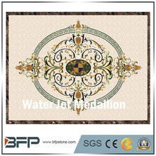 Polishing Water Jet Marble Flooring Medallion Design