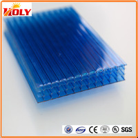 Building material pc plug-pattern sheet / multiwall polycarboante sheet / 40mm polycarbonate panel