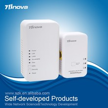 500Mbps PLC Homeplug powerline network adapter with WifI extender