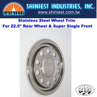 Hot Truck Parts Stainless Steel Truck Wheel Covers Wheel Trims (10225R-A)