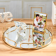 Discount Luxury Metal Mirror Decorative Tray