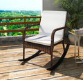 Garden outdoor pe rattan chairs with rock