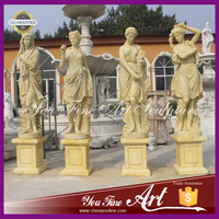 antique marble four season statues for garden