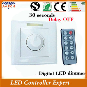 hot delay off fuction automatic 12v led wall dimmer switch buy 12v led dimm. Black Bedroom Furniture Sets. Home Design Ideas