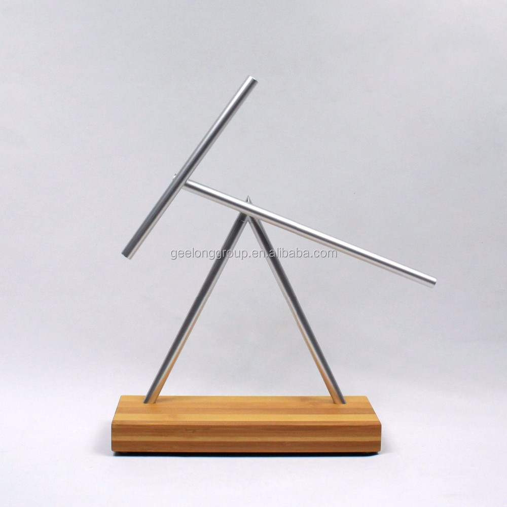 The Swinging Sticks - Bamboo - Double Pendulum Kinetic Energy Perpetual Motion Illusion Sculpture