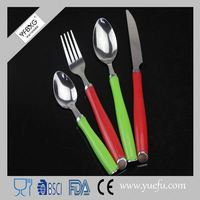 Fashionable easy to carry plastic handle cutlery recyclable