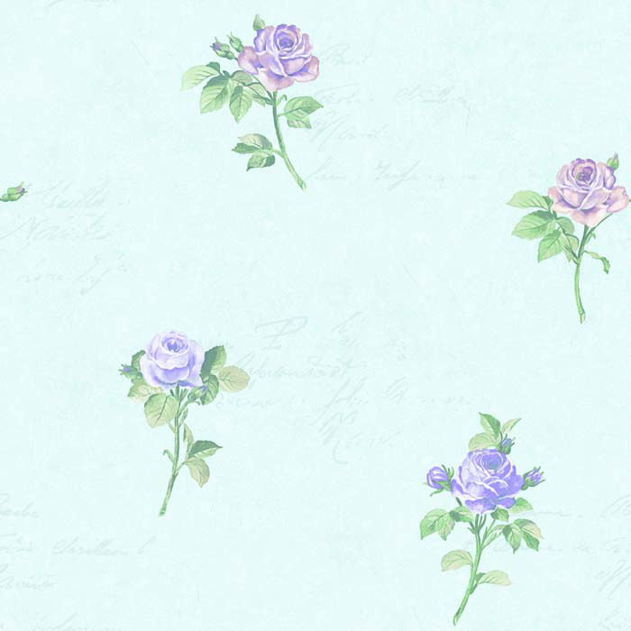 M-1211 English handwriting Rose wallpaper internal wall finishing material