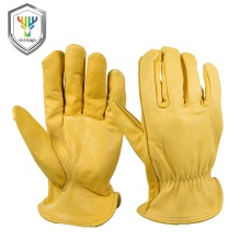 Leather palm truck driver work gloves ce