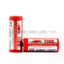 Original 18490/18350/18650 efest imr 18490 3.7v 1100 mah battery for e-cigarette efest 18490 battery with nipple