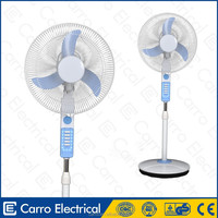 Safe operation neck battery rechargeable emergency pedestal light fan with air cooler
