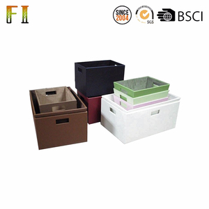 Custom leather plastic storage box decorative