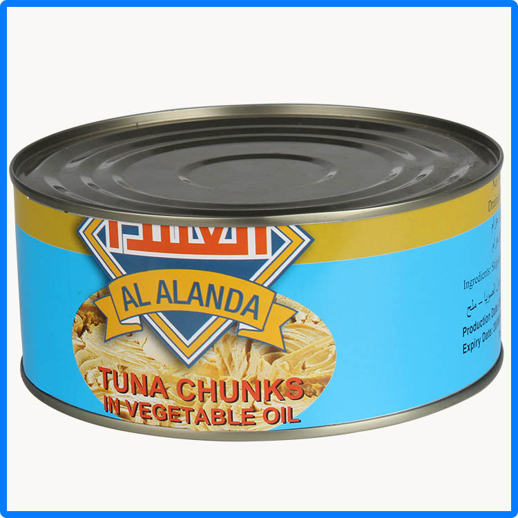 canning tuna fish with fresh sea food material