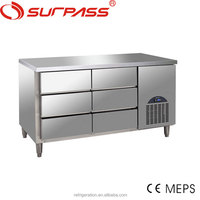 G6DF Surpass 6 Drawers Restaurant Stainless Steel Refrigerated Counter