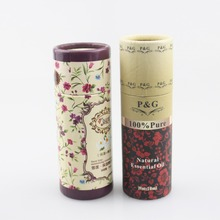 Cylinder shape biodegradable matt brown kraft paper clothing tube fabric cardboard tubes with custom logo