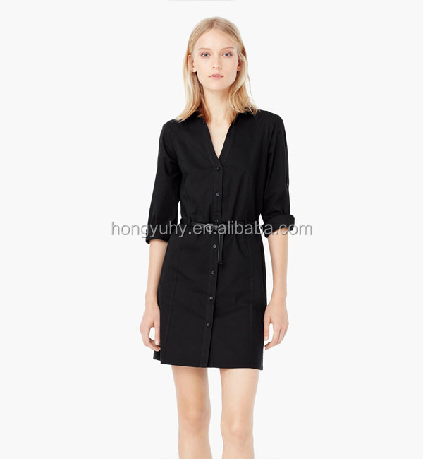 M40602 Italian fashion women clothing formal/casual lady shirt dress wholesale chiffon dress 2015
