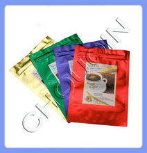 2012 most beautiful coffee bag packaging with zipper