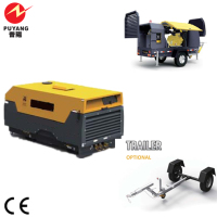 diesel air compressor in stock 405cfm
