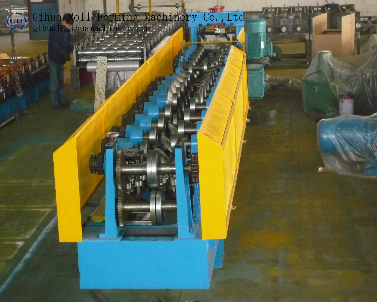 Light steel cable tray shape roll forming machine making kell